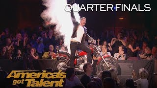 Rob Lake: Magician Makes Motorcycle Appear Out Of Thin Air - America's Got Talent 2018
