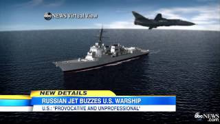 Russian Fighter buzzes U.S. Warship in Black Sea