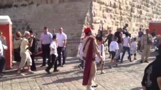 Syrian orthodox Bethlehem Boy Scouts in Jaffa gate Jerusale