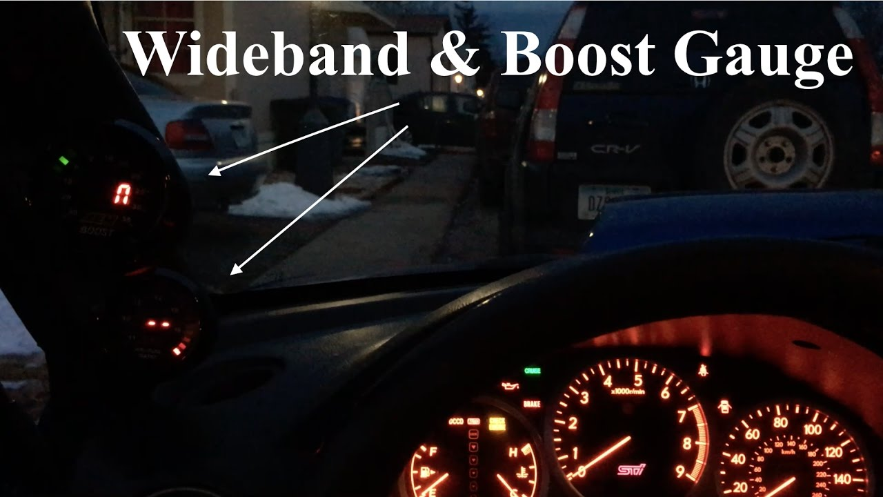 DIY AEM Wideband & Boost Gauge Install Aem Boost Gauge Wiring on