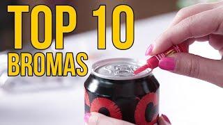 TOP 10 BROMAS 2018 - Bromas para hacer a tus amigos (Recopilación)