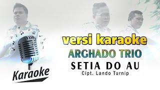 VERSI KARAOKE - SETIA DO AU CIPT. LANDO TURNIP ( ARGHADO TRIO )