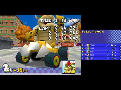 Mario Kart DS playthrough [Part 2: Flower Cup] (NO COMMENTARY)