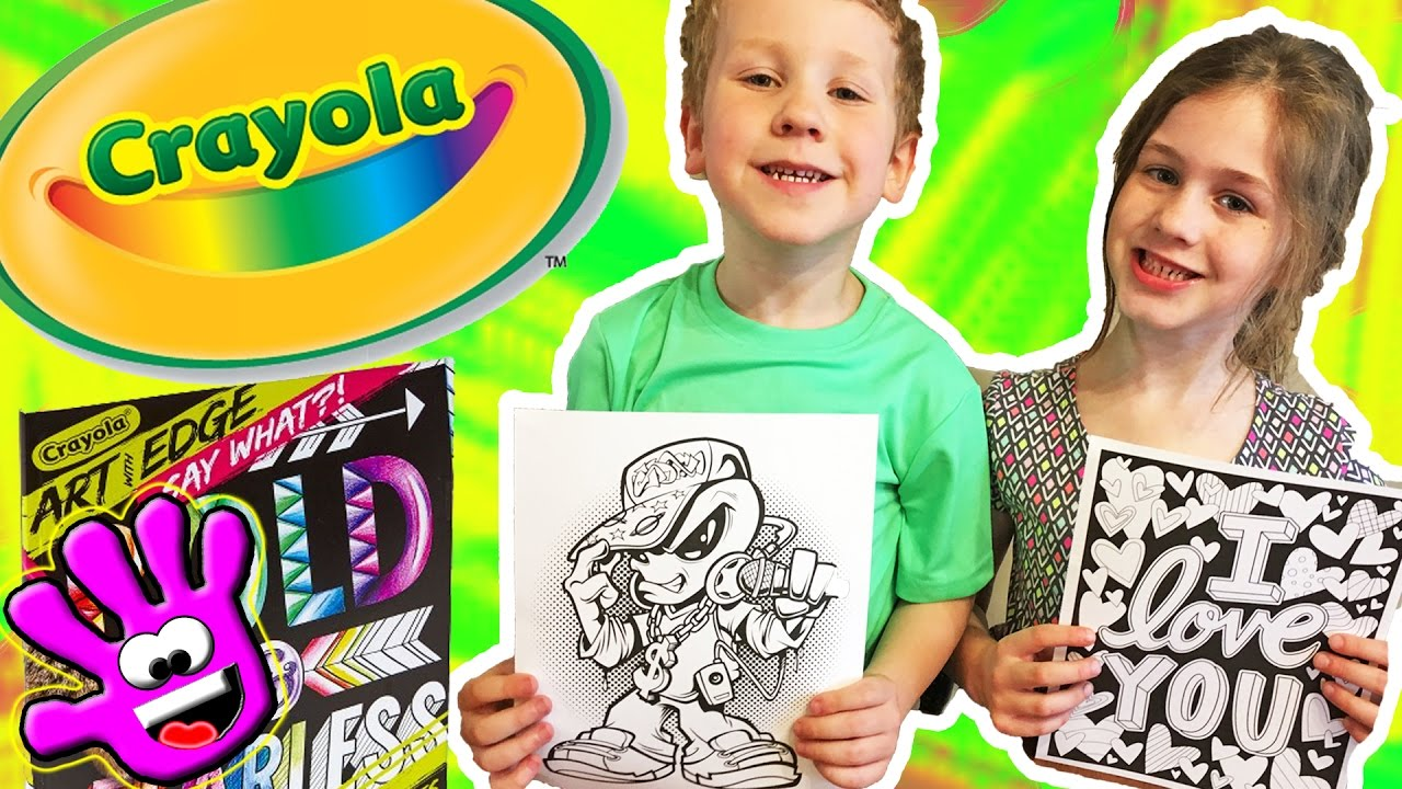 Crayola Art With Edge Graffiti Say What Coloring Book