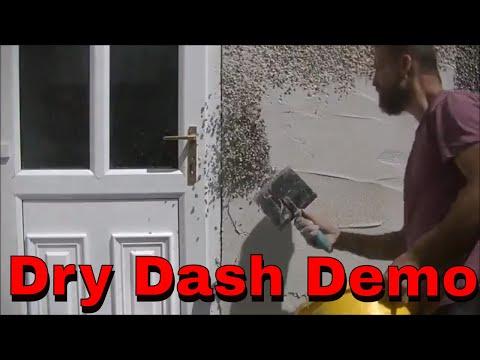 HOW I PATCH DRY DASH RENDER,ROUGHCAST,PEBBLE DASH DEMO PART 1