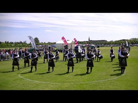 SCOTTISH BORDERS PIPE BAND AT THE BRITISH PIPE BAND CHAMPIONSHIPS 2018