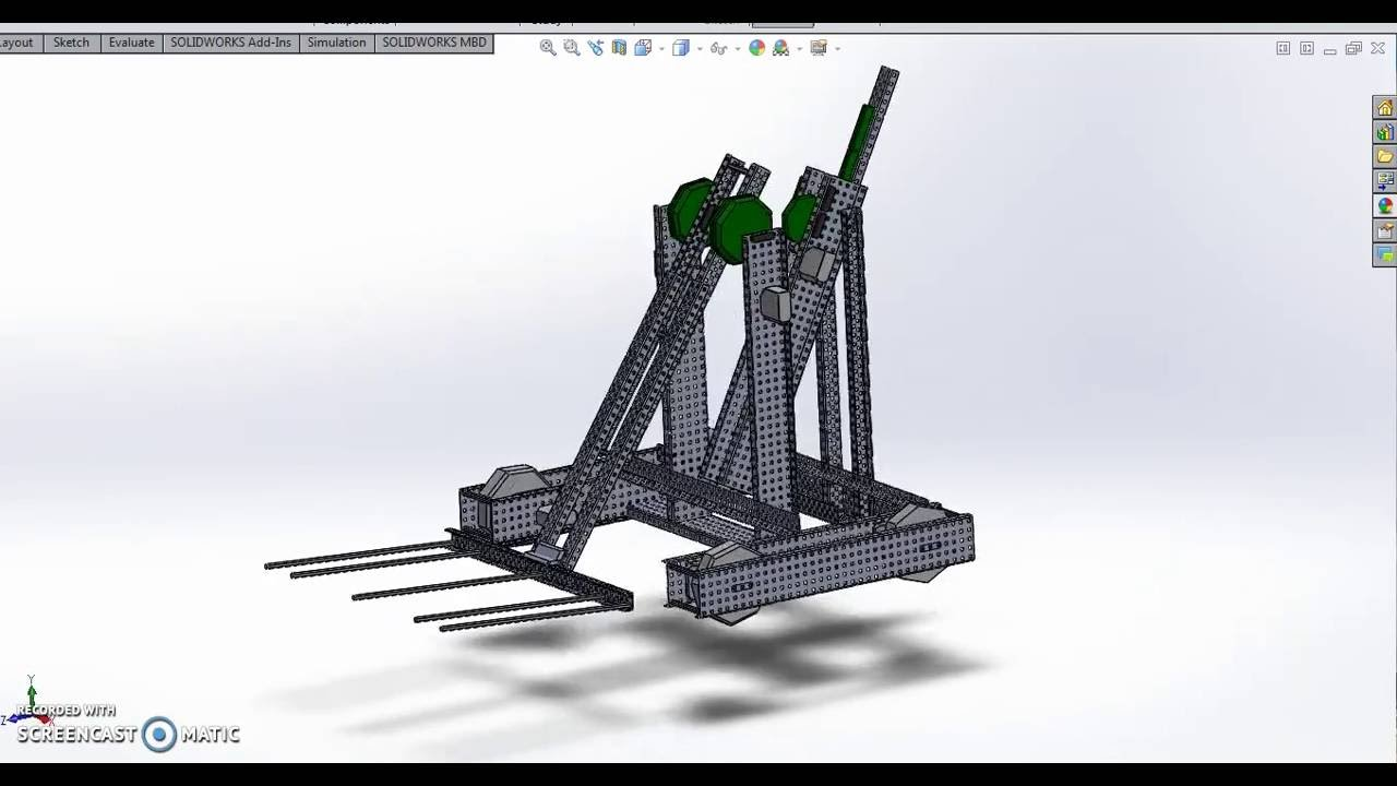 Vex Robot CAD 2016-2017 - YouTube