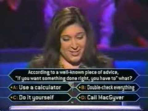 Lady Fails At Who Wants To Be A Millionaire. - YouTube