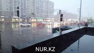 Шикарный снегопад в Астане - 13 октября 2018