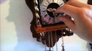 Warmink Dutch 8 Day Oak Wood Striking To Bell Zaanse Wall Clock For Sale On Ebay Uk