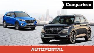 Hyundai Venue vs Creta - Autoportal