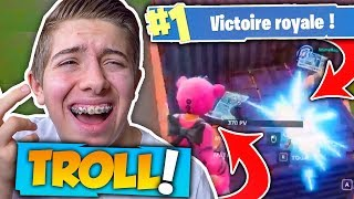 JE TROLL DES INCONNUS EN SECTION EN PLEIN TOP 1 SUR FORTNITE BATTLE ROYALE !!!