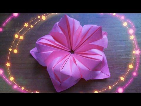 видео: Оригами Цветы Из Бумаги Для Открыток, Кусудам. Как Сделать Поделки Своими Руками