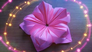 Оригами Цветы Из Бумаги Для Открыток, Кусудам. Как Сделать Поделки Своими Руками(Красивые цветы в технике оригами можно легко и быстро сделать своими руками из бумаги. Цветочки из 5 модулей..., 2016-02-25T15:29:51.000Z)