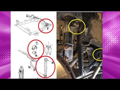 ЗАМЕНА ВТУЛОК И СТОЕК СТАБИЛИЗАТОРА OPEL ASTRA, ZAFIRA. REPLACING SLEEVES AND STOCK STABILIZER
