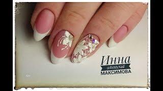 ❤ ВЫКЛАДНОЙ френч ГЕЛЕМ ❤ COSMOPROFI ❤ СТРАЗЫ на ногтях ❤ ЦВЕТЫ на ногтях ❤