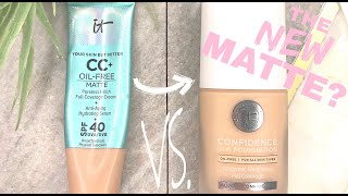 IT COSMETICS CONFIDENCE IN A FOUNDATION VS CC MATTE | WHICH IS BETTER FOR DRY SKIN?