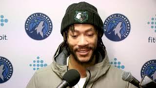 Shootaround - Timberwolves vs. Mavericks | Derrick Rose