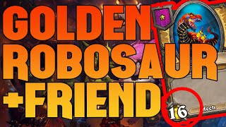 How to Robosaur together with his best friend Baron Rivendare - Hearthstone Battlegrounds Highlights