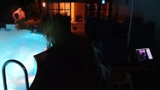 Nebelmaschine Ibiza LSMM 1500 W im Einsatz am Pool