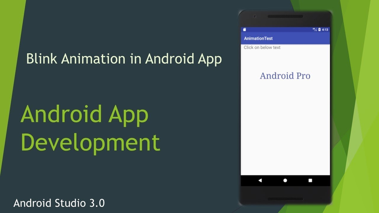 Kotlin with Android -13  Create a Blink Animation Project