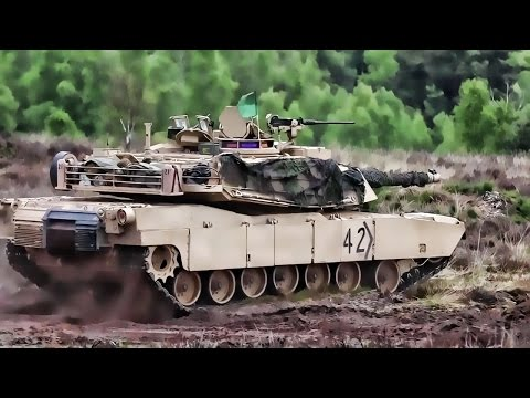 U.S. & German Armored Vehicles Together In Panzer Thrust