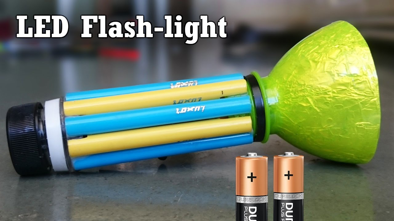 How to Make a LED Flashlight using Bottle and Sketch pe ...