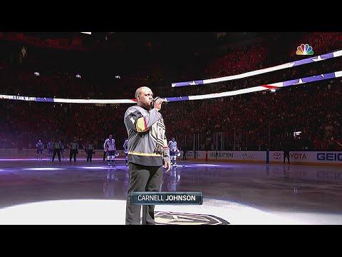 WSH@VGK, Gm5: Johnson returns for national anthem