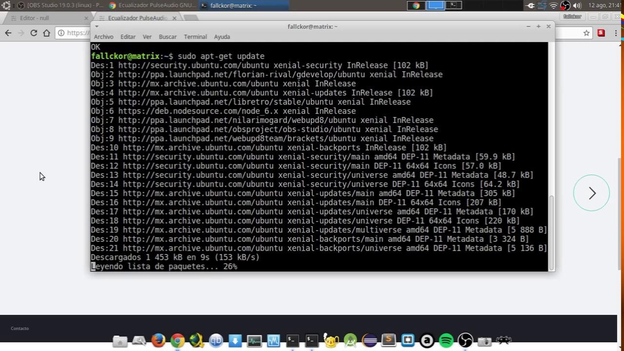 Ecualizador PulseAudio Linux ubuntu/Debian