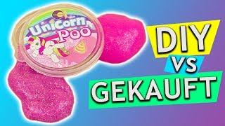 Unicorn Poo DIY Slime 🦄 Gekauft vs DIY | Einhorn Schleim DIY Idee | Super hübsch & einfach