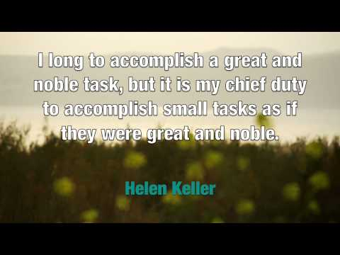 Inspirational Music and Quotes: Helen Keller