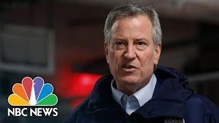 NYC Mayor Bill de Blasio Speaks After USNS Comfort Arrival | NBC News
