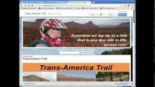 Download Trans America Trail Map to your GPS unit