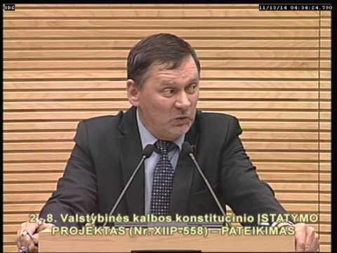 (Akas.lt, lrs.lt)LR valstybinės kalbos konstitucinio įstatymo projekto priemimas po pateikimo