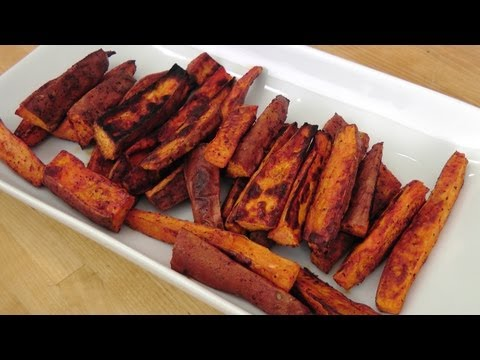 Roasted Sweet Potato Fries Recipe - Laura Vitale - Laura In The Kitchen Episode 230