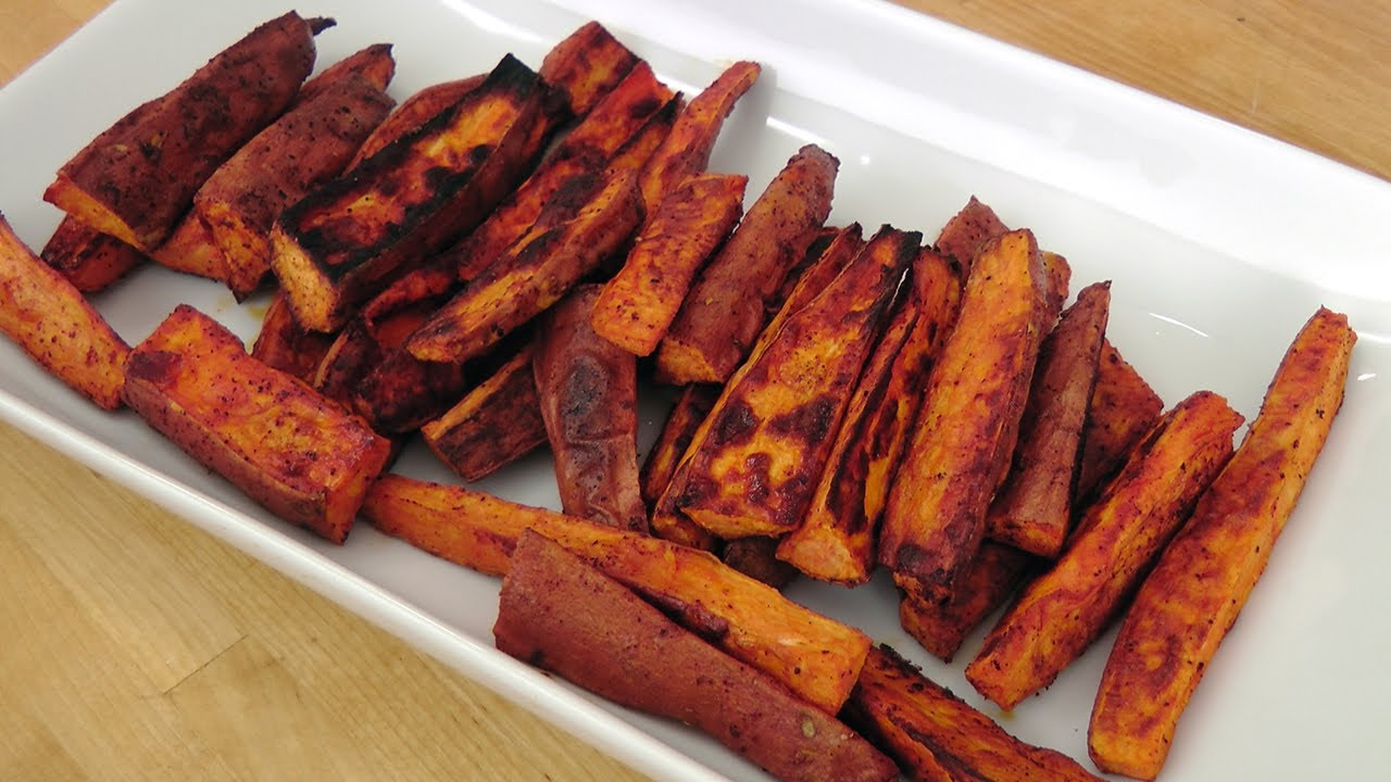 Roasted Sweet Potato Fries Recipe Laura Vitale Laura In The Kitchen Episode 230 Youtube