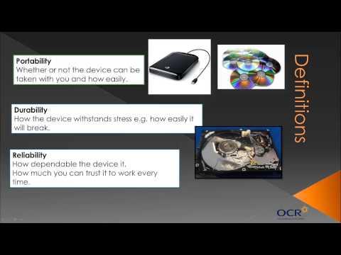 OCR GCSE Computing: Secondary Storage - Topic 6