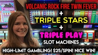 HIGH LIMIT! TAKING A GAMBLE! $25/SPIN Slot Machine ACTION!! Nice WIN!!