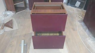 Как сделать кухню самому, шкаф с выдвижными ящиками.