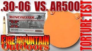 30 06 lead tip vs ar500 steel plate ballistic torture test