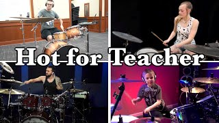 'Hot for Teacher' Drum Solo  Who Plays it the Best?