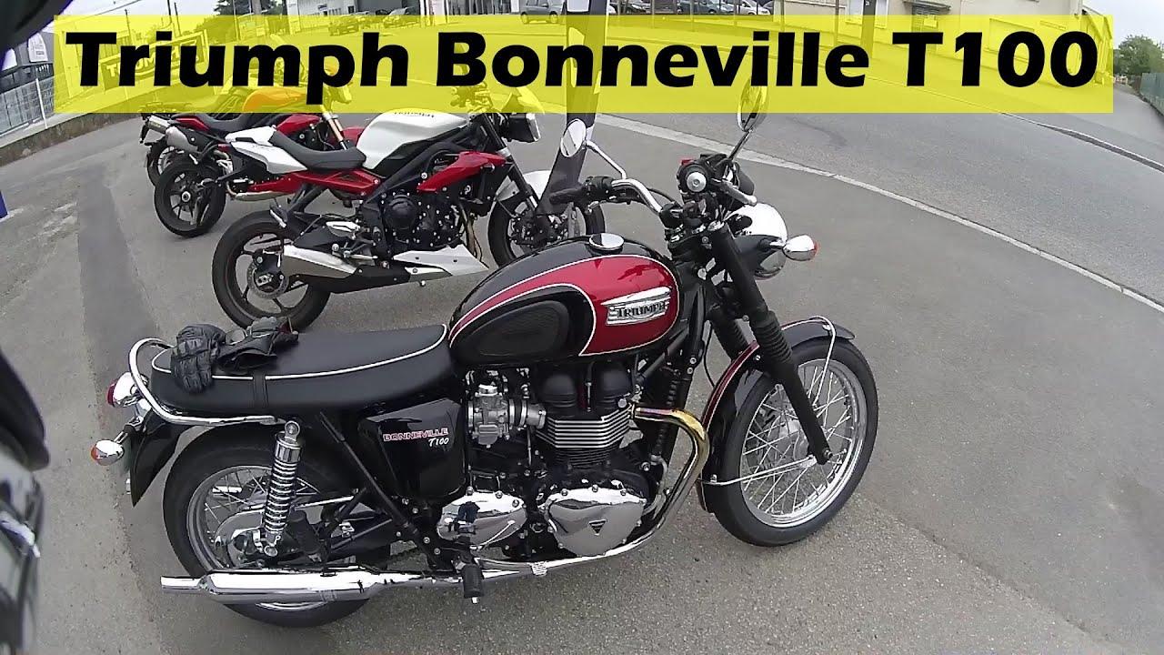 Essai De La Triumph Bonneville T100 Youtube