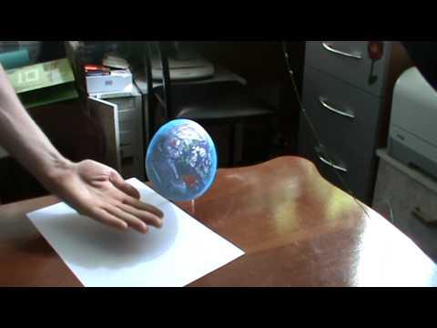 Иллюзии. Земля на ладони 3D картинки рисунки
