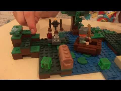 LEGO Minecraft  Хижина ведьмы обзор
