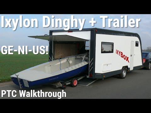 Yxilon Dinghy + IXYBox Toy Hauler Camper 2019 Travel Trailer (PTC Walkthrough)