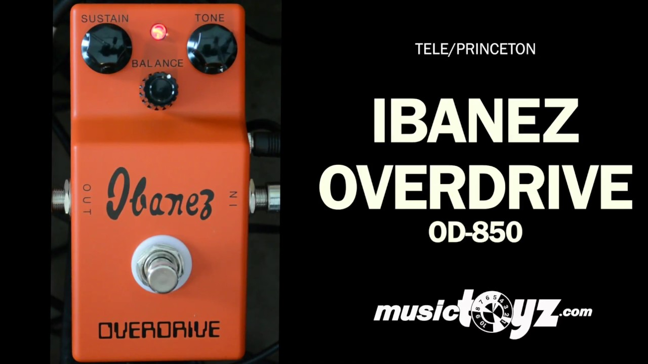 ibanez overdrive 850 guitar pedal youtube