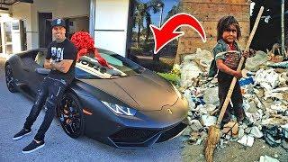 Junge findet den SCHLÜSSEL eines Lamborghinis und gibt ihn zurück, wonach sich sein Leben änderte!