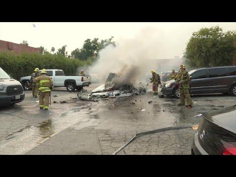 Two Killed in Fiery Plane Crash in Van Nuys