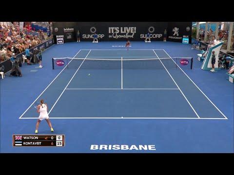 Watson vs Kontaveit Match Highlights (R1) | Brisbane International 2018
