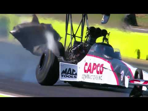 Steve Torrence walks away from massive crash in Dallas